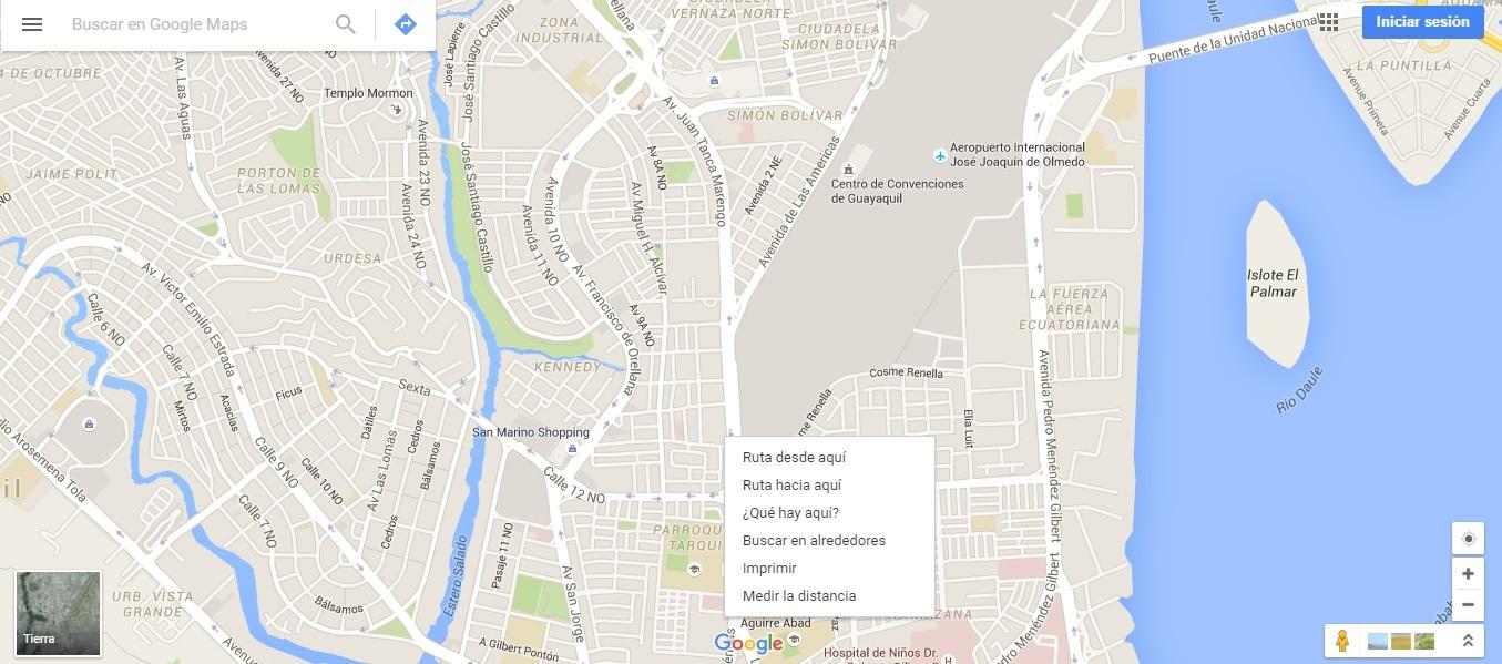 Google Maps GYE
